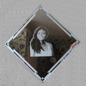 Portret op spiegel
