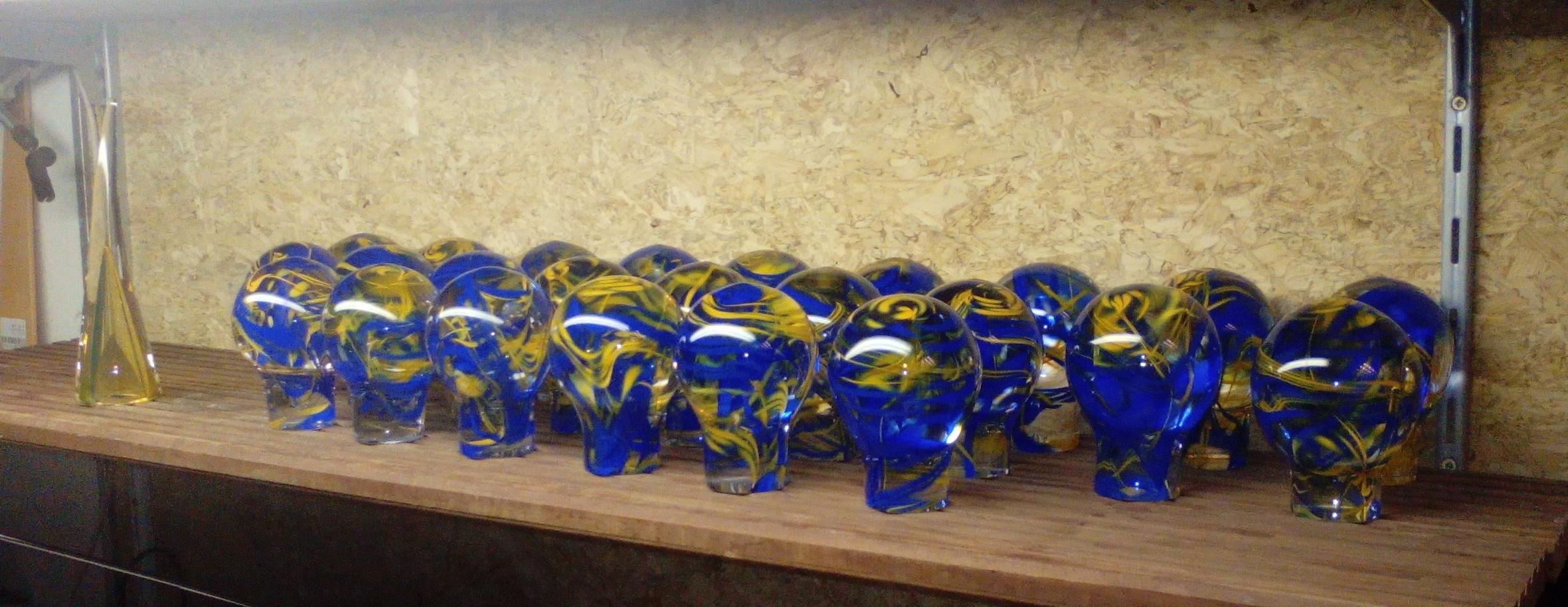 In opdracht gezandstraald voor Kristal-Glas Leerdam