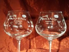 Bol wijnglas